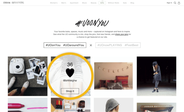 e-commerce user generated content example